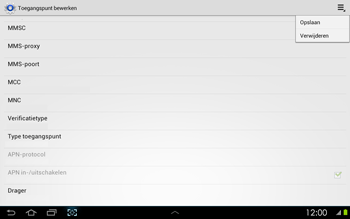 Samsung P5100 Galaxy Tab 2 10-1 - Internet - Handmatig instellen - Stap 13