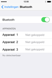 Apple iPhone 4 iOS 7 - bluetooth - headset, carkit verbinding - stap 5