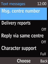 Nokia 220 - SMS - Handmatig instellen - Stap 7