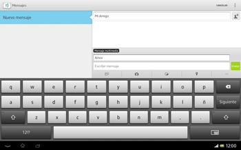 Sony Xperia Tablet Z - Mensajería - Escribir y enviar un mensaje multimedia - Paso 12