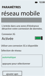 HTC C110e Radar - Réseau - utilisation à l'étranger - Étape 9