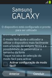 Samsung Galaxy Fame - Primeiros passos - Como ligar o telemóvel pela primeira vez -  13