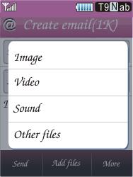 Samsung S7070 Diva - E-mail - Sending emails - Step 11