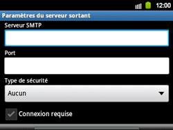 Samsung B5510 Galaxy TXT - E-mail - Configuration manuelle - Étape 10