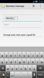 Acer Liquid S2 - E-mail - Envoi d