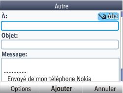 Nokia Asha 201 - E-mail - Envoi d