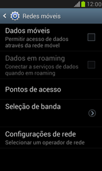 Samsung I8190 Galaxy S III Mini - Rede móvel - Como ativar e desativar uma rede de dados - Etapa 7