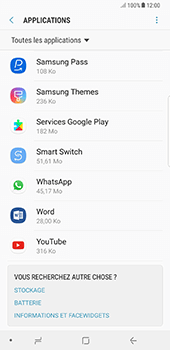 Samsung Galaxy Note 8 - Applications - Supprimer une application - Étape 5