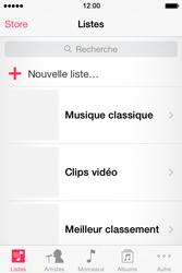 Apple iPhone 4S - Photos, vidéos, musique - Ecouter de la musique - Étape 3