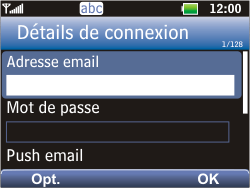 LG C360 Golf - E-mail - Configuration manuelle - Étape 4