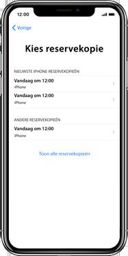 Apple iPhone X - Instellingen aanpassen - Activeer het toestel en herstel jouw iCloud-data - Stap 21