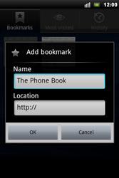 Sony Ericsson Xperia Mini Pro - Internet - Internet browsing - Step 8