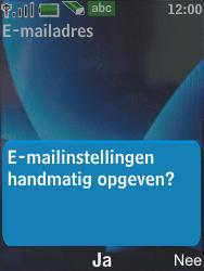 Nokia 6600 slide - E-mail - Handmatig instellen - Stap 13