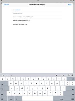 Apple iPad Pro 12.9 - iOS 11 - E-mail - Bericht met attachment versturen - Stap 8