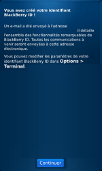 BlackBerry 9860 Torch - BlackBerry activation - BlackBerry ID activation - Étape 10