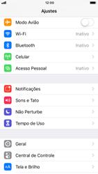 Apple iPhone 6 - iOS 12 - Rede móvel - Como ativar e desativar o modo avião no seu aparelho - Etapa 3