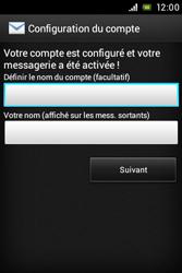 Sony ST21i Xperia Tipo - E-mail - Configuration manuelle - Étape 14