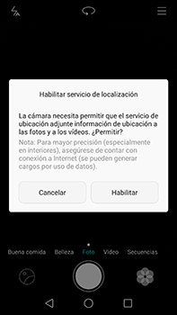 Huawei GX8 - Funciones básicas - Uso de la camára - Paso 3