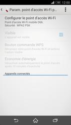 Sony Xperia Z3 Compact - Internet et connexion - Partager votre connexion en Wi-Fi - Étape 7