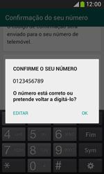 Samsung Galaxy Trend Plus - Aplicações - Como configurar o WhatsApp -  7