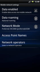 Sony Ericsson Xperia Arc - Network - Usage across the border - Step 6