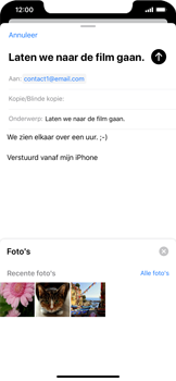 Apple iPhone XR - iOS 13 - E-mail - Bericht met attachment versturen - Stap 11