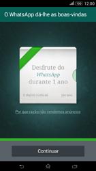 Sony Xperia E4 - Aplicações - Como configurar o WhatsApp -  11