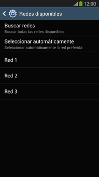 Samsung Galaxy Note 3 - Red - Seleccionar una red - Paso 9