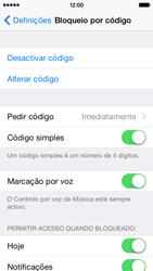 Apple iPhone 5s iOS 8 - Segurança - Como ativar o código de bloqueio do ecrã -  7