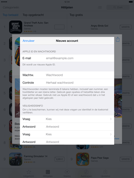 Apple iPad Mini Retina met iOS 7 - Applicaties - Account aanmaken - Stap 13