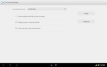 Sony SGP321 Xperia Tablet Z LTE - E-mail - Handmatig instellen - Stap 18