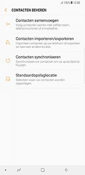 Samsung Galaxy Note 8 (SM-N950F) - Contacten en data - Contacten kopiëren van toestel naar SIM - Stap 7