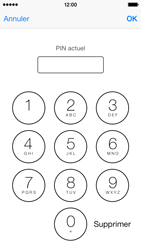 Apple iPhone 5s - Sécuriser votre mobile - Personnaliser le code PIN de votre carte SIM - Étape 7