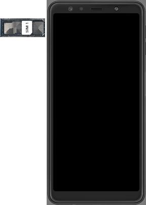 Samsung Galaxy A7 2018 - Premiers pas - Insérer la carte SIM - Étape 4