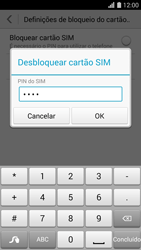 Huawei G620s - Segurança - Como ativar o código PIN do cartão de telemóvel -  7