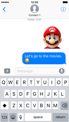 Apple iPhone SE - iOS 10 - iOS features - Send iMessage - Step 24