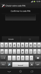 Sony Xpéria SP - Sécuriser votre mobile - Activer le code de verrouillage - Étape 9