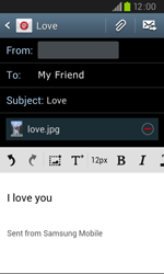 Samsung I9105P Galaxy S II Plus - Email - Sending an email message - Step 13