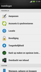 HTC Desire 601 - Instellingen aanpassen - Fabrieksinstellingen terugzetten - Stap 4