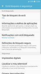 Samsung Galaxy S7 - Segurança - Como ativar o código de bloqueio do ecrã -  13