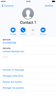 Apple iPhone 7 Plus - Contact, Appels, SMS/MMS - Ajouter un contact - Étape 12