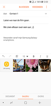 Samsung Galaxy A8 (2018) (SM-A530F) - E-mail - Bericht met attachment versturen - Stap 13