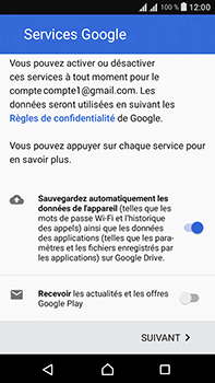 Sony Xperia L1 - Applications - Créer un compte - Étape 17
