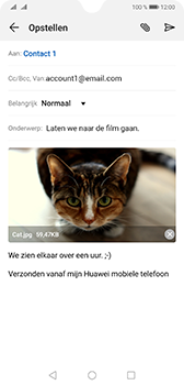Huawei mate-20-dual-sim-hma-l29 - E-mail - Bericht met attachment versturen - Stap 15