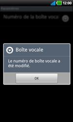 LG P920 Optimus 3D Speed - Messagerie vocale - Configuration manuelle - Étape 8