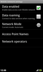 Acer Liquid Metal S120 - Network - Usage across the border - Step 6