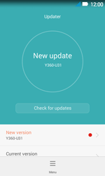 Huawei Y3 - Network - Installing software updates - Step 9