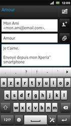 Sony ST25i Xperia U - E-mail - envoyer un e-mail - Étape 8