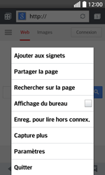 LG F70 - Internet et connexion - Naviguer sur internet - Étape 7