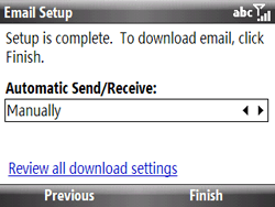 HTC S521 Snap - E-mail - Manual configuration - Step 12
